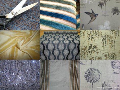 zestaw tkanin na żyrandol